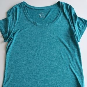 Nike Dri Fit Active Top Blue Green Large